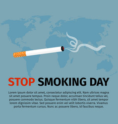 stop smoking day poster vector image