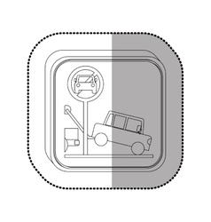 Towing a car vector image