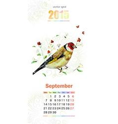 calendar for 2015 september vector image vector image
