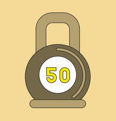 Flat icon on stylish background weight vector