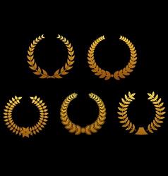 golden laurel wreaths vector image vector image