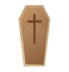 halloween coffin vector image