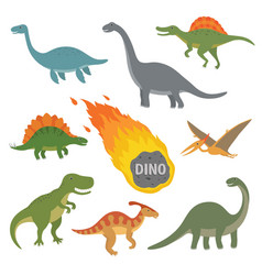 happy cartoon dinosaur vector image