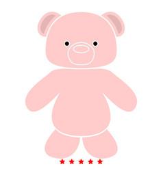 little bear icon flat style vector image