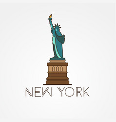 statue of liberty - the symbol of us new york vector image