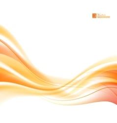 Abstract orange wind vector image vector image