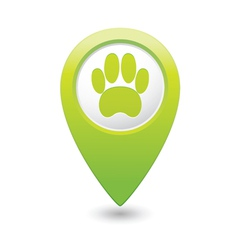 animal footstep GREEN map pointer vector image vector image