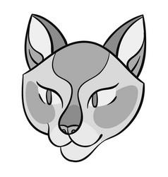 cartoon cat head vector image