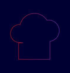 chef cap sign line icon with gradient vector image