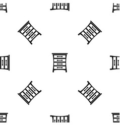 chest of drawers pattern seamless black vector image