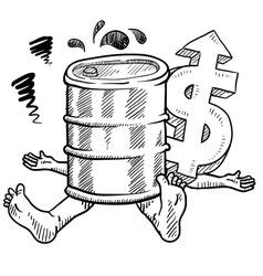 doodle squish oil barrel vector image vector image