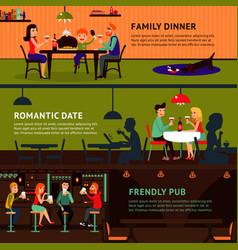 eating people horizontal banners vector image