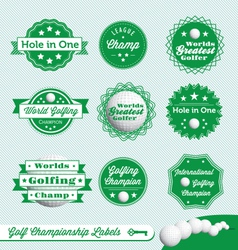 Golf championship labels vector