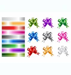 ribbon collections for your design vector image
