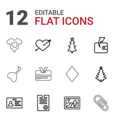 12 card icons vector