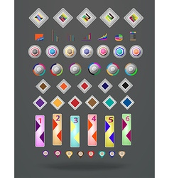 Abstract digital Infographic vector image