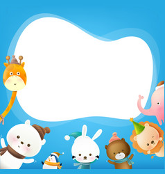 animal cartoon with speech bubble 001 vector image