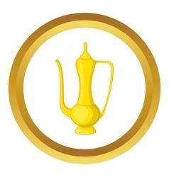 Arabic jug icon vector