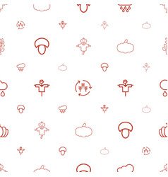autumn icons pattern seamless white background vector image