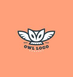 Barn owl logo vector