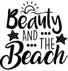 beauty and beach on white background vector image