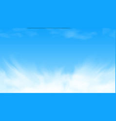 beauty white cloud and blue sky in sunny day vector image