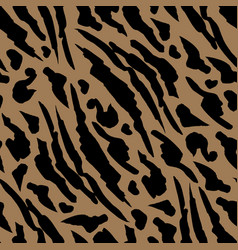Beige spots safari pattern tiger print orange vector