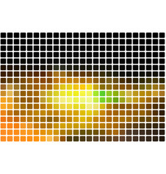 black brown yellow green abstract rounded mosaic vector image
