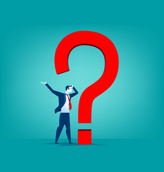 businessman with question mark vector image