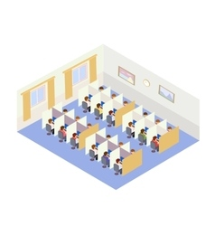 Call Center Jobs People Isometric style vector