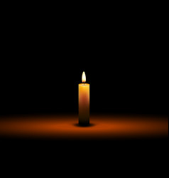 candle wax isolated decoration candlelight vector image