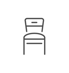 Chair line icon vector