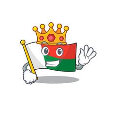 Character flag madelova isolated in cartoon king vector