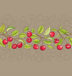 cherry pattern vector image