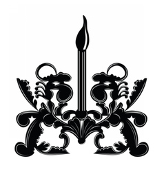 Classic Baroque style wall lamp vector image
