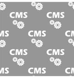 Cms seamless pattern vector