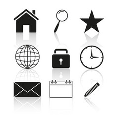 contact of set icon vector image