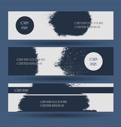 creative grunge blue texture banner vector image