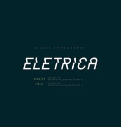 creative modern urban alphabet fonts typography vector image