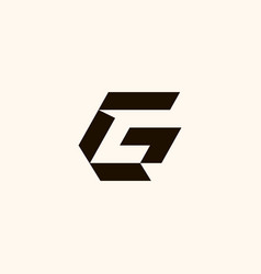creative professional trendy monogram g gc cg c vector image