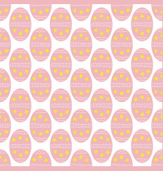 cute easter eggs with flowers and dots seamless vector image