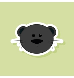 Cute Puma face vector image