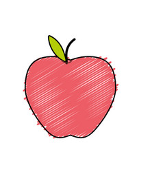 Delicious apple fresh fruit nutrition vector