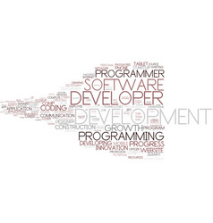 developer word cloud concept vector image