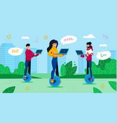 Digital professions geek culture concept vector