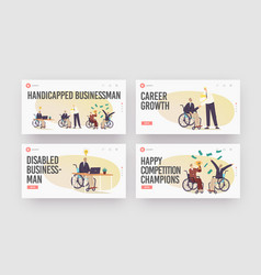 Disability employment disabled people work vector