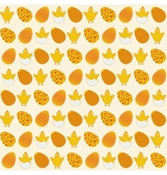 Easter simple seamless decorate retro pattern vector image