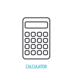Electronic calculator outline icon vector