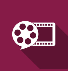 film reel and play video movie film icon vector image