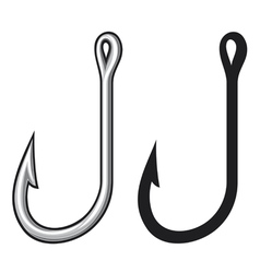 Fishing hook vector